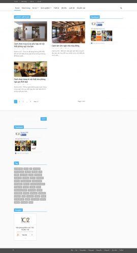 Mẫu website thiết kế nội thất 10165