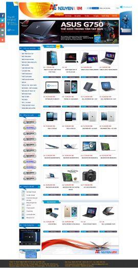 Mẫu website bán linh kiện điện tử 10204