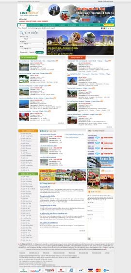 Mẫu website du lịch 1068
