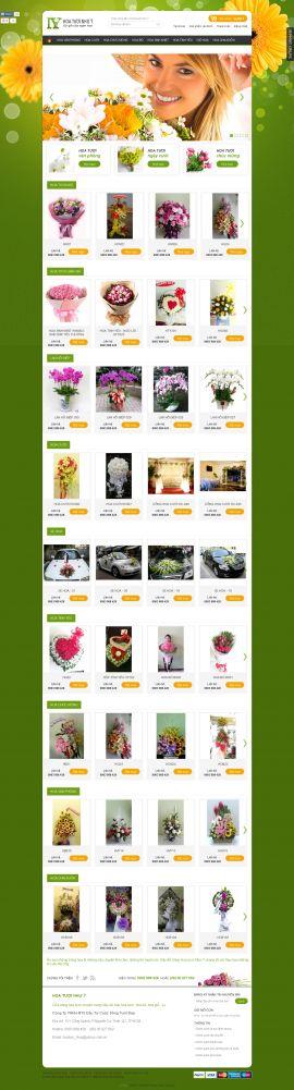 Mẫu website bán hoa 1012a5