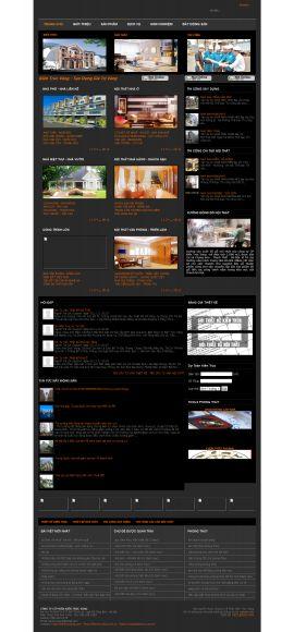 Mẫu website thiết kế nội thất 10166