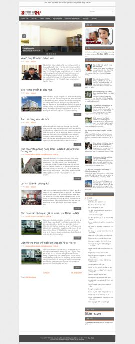 Mẫu website bất động sản 1037