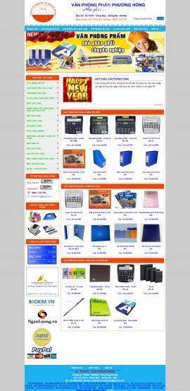 Mẫu website văn phòng phẩm 10497