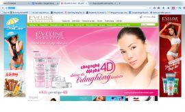 Mẫu website mỹ phẩm 10478