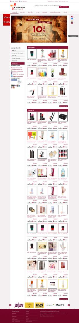 Mẫu website mỹ phẩm  10479