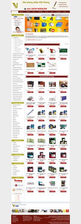 Mẫu website văn phòng phẩm 10499