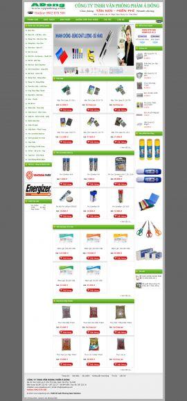 Mẫu website văn phòng phẩm 10501