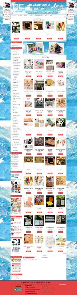 Mẫu website văn phòng phẩm 10502