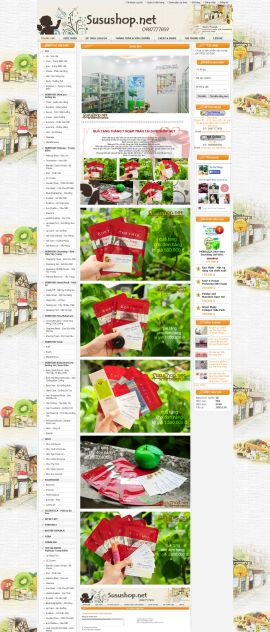 Mẫu website mỹ phẩm 10466