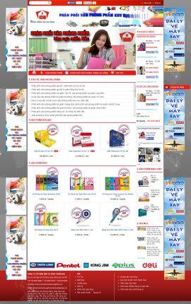 Mẫu website văn phòng phẩm 10942