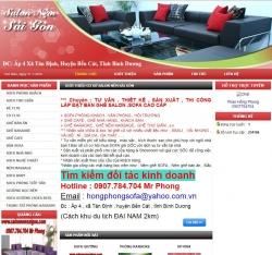 website doanh nghiệp Cơ Sở Salon Nệm Sài Gòn