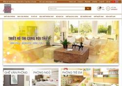 Mẫuthiết kế web dịch vụ Nội Thất City