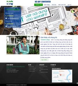 Mẫu website blog cá nhân13521