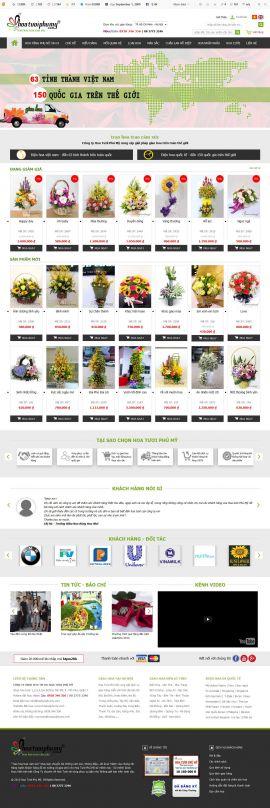 Mẫu website bán hoa 10108