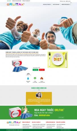 Mẫu website bán thuốc 13513