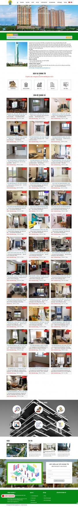 Mẫu website căn hộ cho thuê 13492