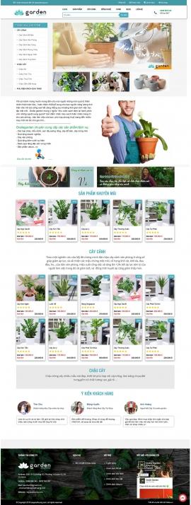 Mẫu website cây hoa kiểng 13527