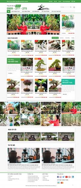 Mẫu website cây kiểng 13485