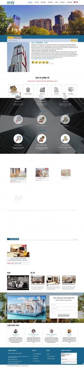 Mẫu website cho thuê căn hộ 13518