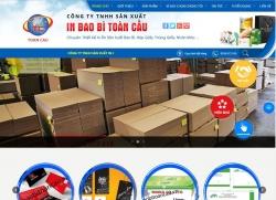 website công nghiệp Công ty sx bao bì Toàn Cầu