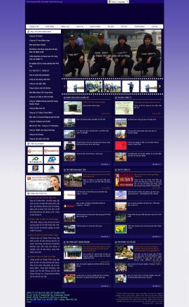 Mẫu website dịch vụ bảo vệ 3485