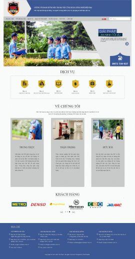 Mẫu website dịch vụ bảo vệ 3486