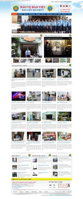 Mẫu website dịch vụ bảo vệ 3487