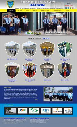 Mẫu website dịch vụ bảo vệ 3488