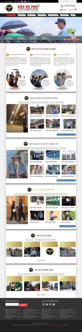 Mẫu website dịch vụ bảo vệ 3489