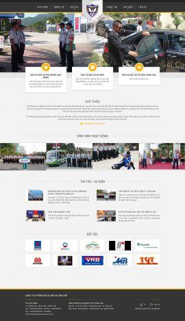 Mẫu website dịch vụ bảo vệ 3490