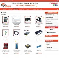 website dịch vụ Công Ty Tnhh Thương Mại Dịch Vụ Lê Minh Autotek