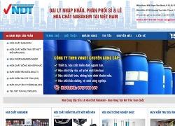 Mẫu website dịch vụ Công ty TNHH VNNDT được thiết kế bởi web số