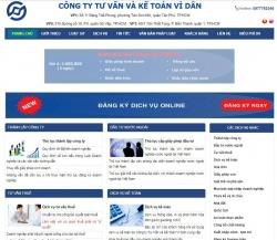 website dịch vụ Công ty Tư vấn và Kế toán Vì Dân