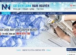 website điện lạnh Công ty TNHH Cơ Điện Nam Nguyên
