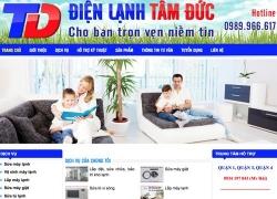 website điện lạnh Điện lạnh tâm đức được thiết kế bởi web số