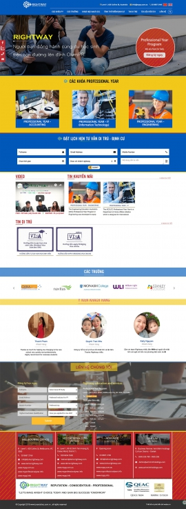 Mẫu website du học 13515