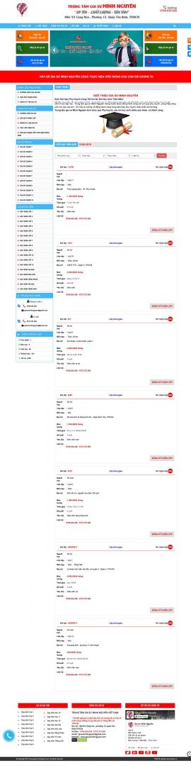 Mẫu website gia sư 13523
