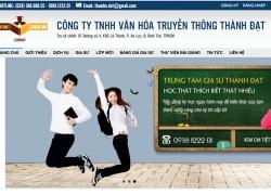 website giáo dục Công ty TNHH Văn Hoá Truyền Thông Thành Đạt do web số thiết kế