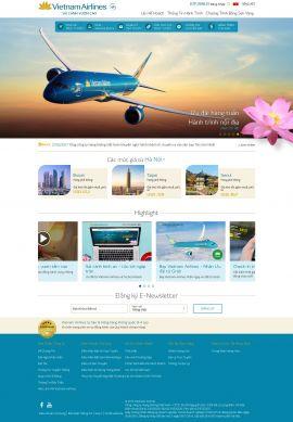 Mẫu website hàng không 10429