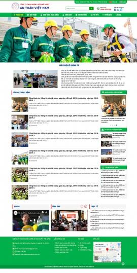 Mẫu website huấn luyện an toàn lao động 13495