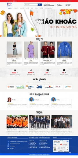 Mẫu website may mặc 13494