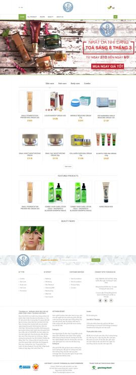 Mẫu website mỹ phẩm 10470
