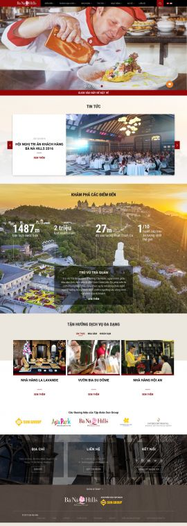 Mẫu website nhà hàng, khách sạn 10436