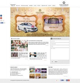 Mẫu website nhà hàng tiệc cưới 10505