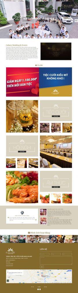 Mẫu website nhà hàng - tiệc cưới 13473
