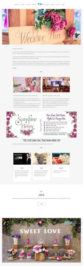Mẫu website nhà hàng - tiệc cưới 13476