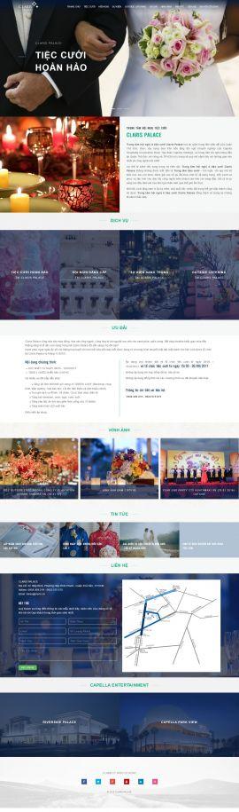 Mẫu website nhà hàng - tiệc cưới 13477