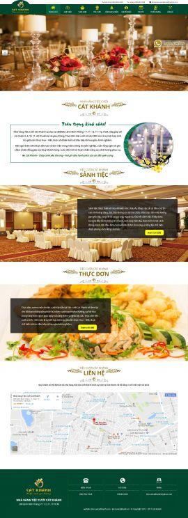 Mẫu website nhà hàng - tiệc cưới 13478