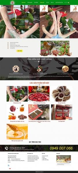 Mẫu website nhung hươu 13493