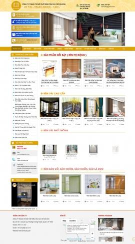Mẫu website nội thất-rèm cửa 13480